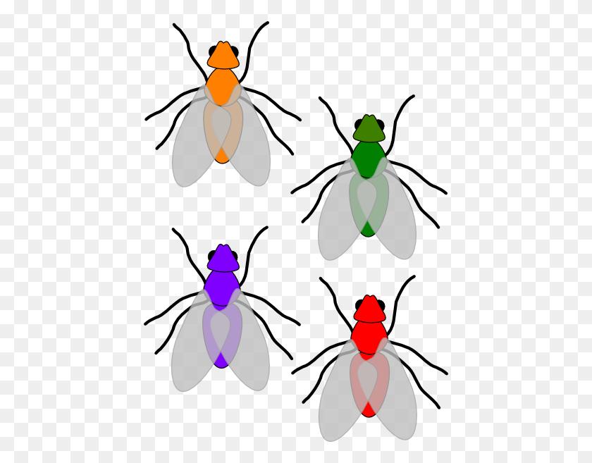 Multicoloured Flies Clip Art - Time Flies Clipart