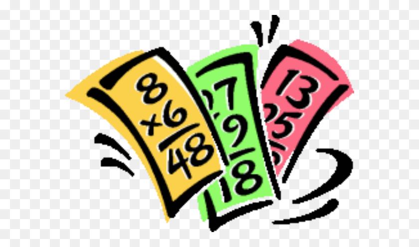 Multiplication Math Flash Cards Clip Art - Multiplication Clipart