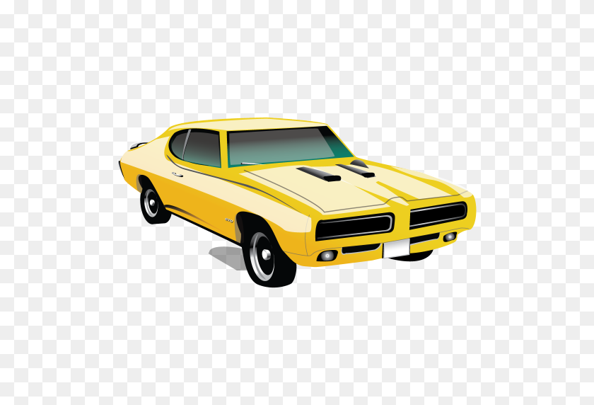 512x512 Muscle Car Pontiac Gto Icon Classic American Cars Iconset - Classic Car PNG