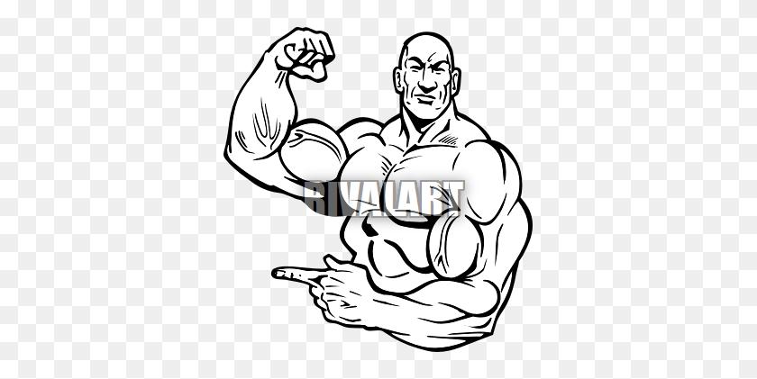 Muscle Men Clipart - Muscle Arm Clipart
