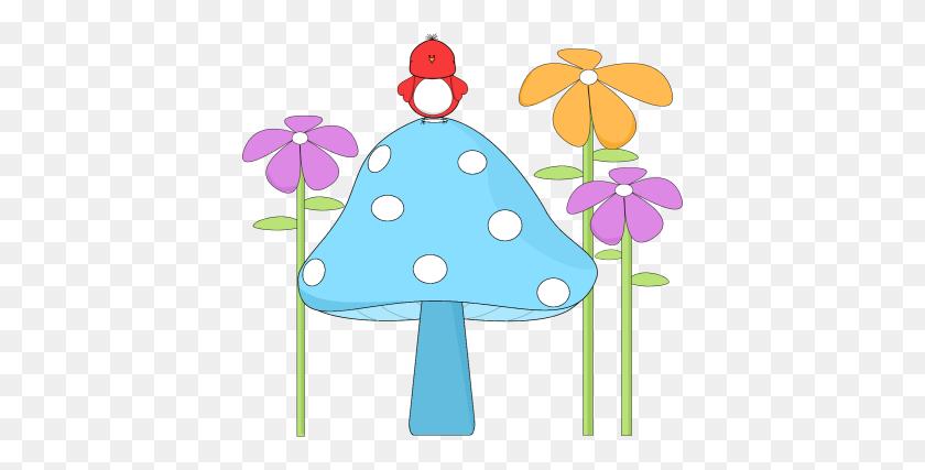 400x367 Mushroom Clip Art - Morel Mushroom Clipart