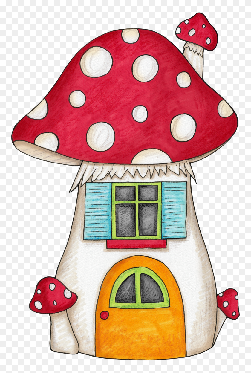 Mushroom House Clip Art Para Imprimir Mushroom - Mushroom Cloud Clipart