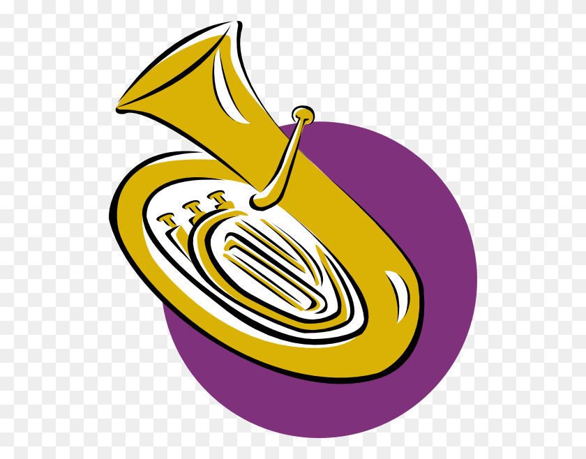 528x598 Musical Instrument Cliparts - Mellophone Clipart
