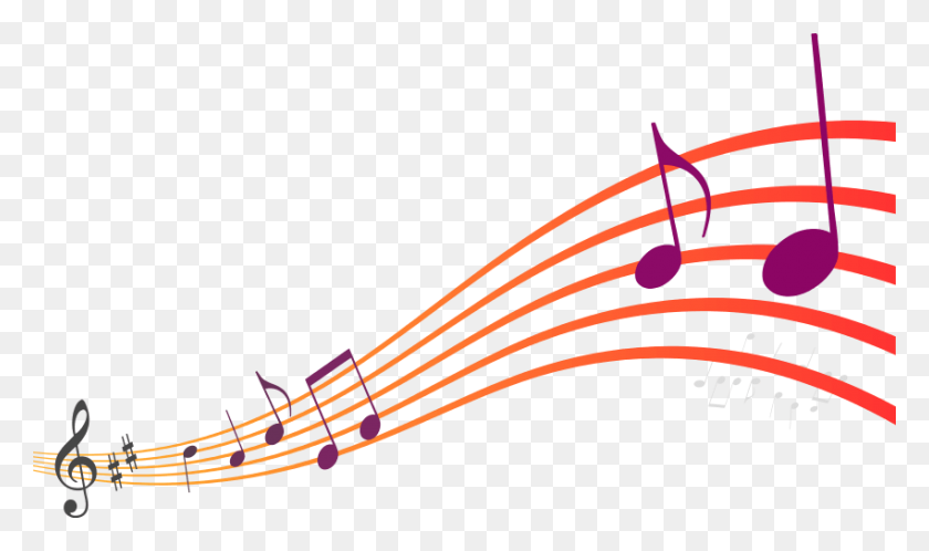 850x478 Musical Notes Png Colourful Music Transparent Png Stickpng Sweet - Music Clipart Transparent