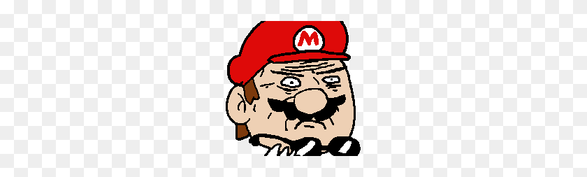 Mustache Mario - Mario Mustache PNG