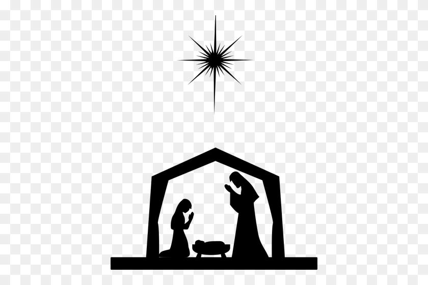 Nativity Black And White Free Clip Art Nativity Scene Silhouette - Shepherd Clipart Black And White