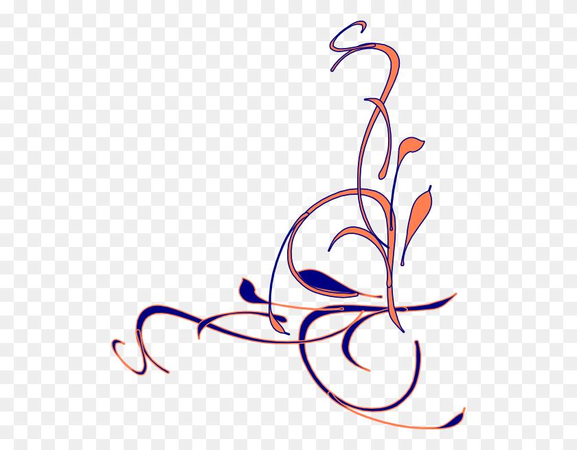 Navy Clipart Swirl - Wedding Program Clipart