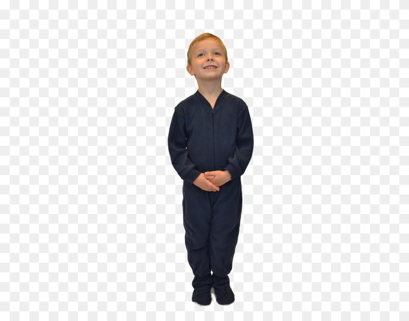 Navy Fleece Onesie Footie Pajamas For Infants Toddlers Big Feet - Pajamas PNG