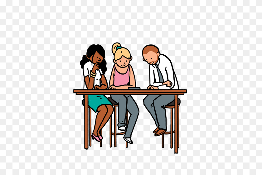 Negotiation Clipart Annexure - Waiting In Line Clipart