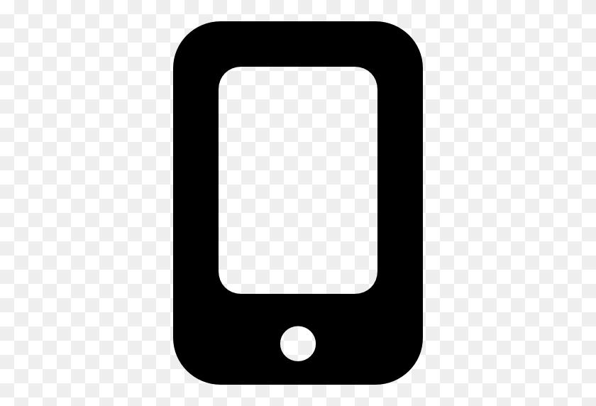 512x512 Negro Del - Icono Telefono PNG