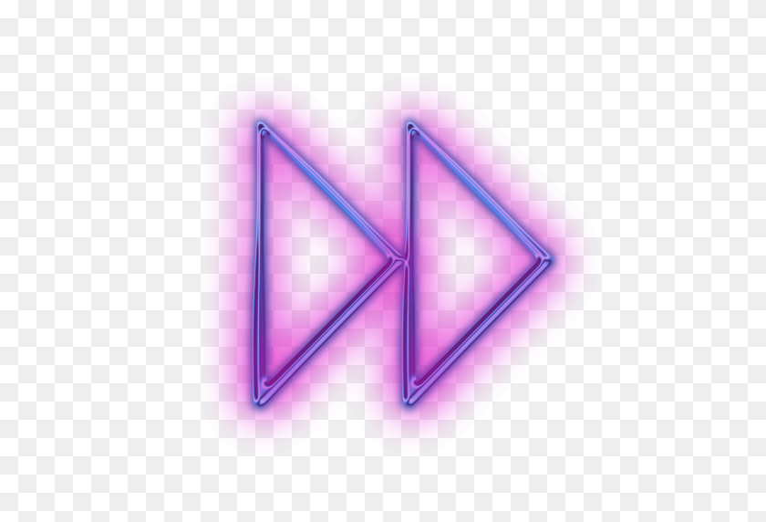 512x512 Neon Tumblr Translucent Purple Arrows - Arrow PNG Tumblr