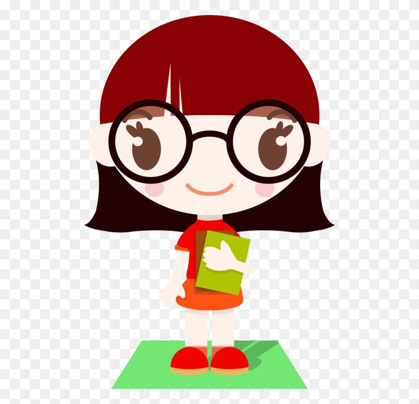 Nerd Computer Icons Geek Girl Drawing - School Girl Clipart