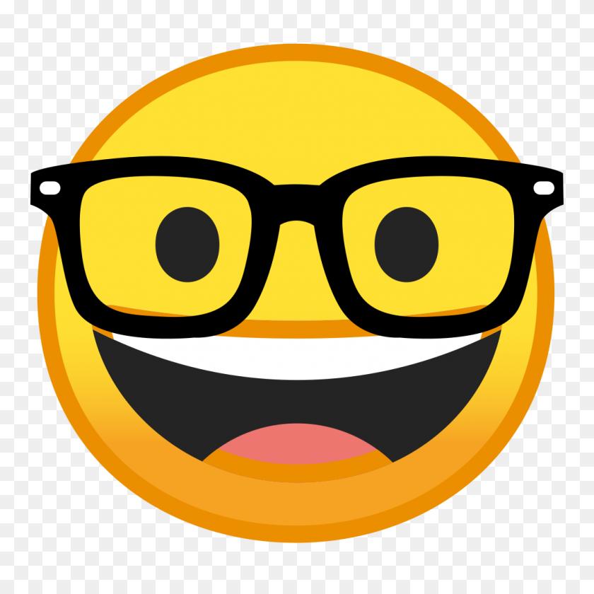 Nerd Face Icon Noto Emoji Smileys Iconset Google - Nerd PNG