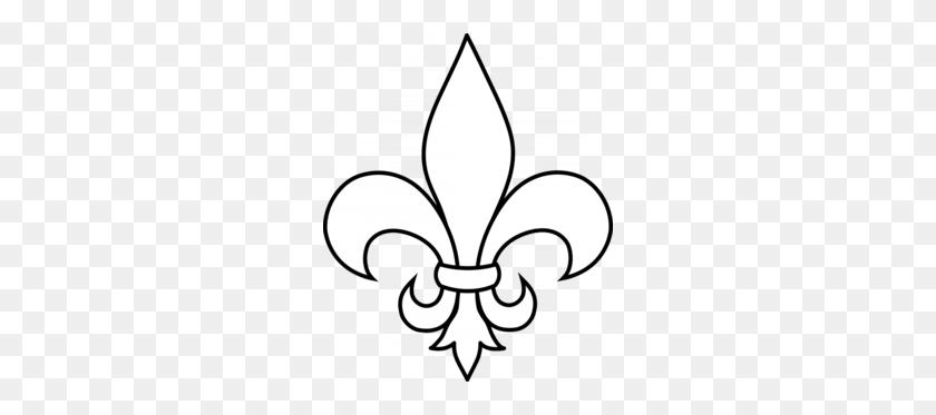 260x313 New Orleans Saints Black Clipart - Free Fleur De Lis Clip Art