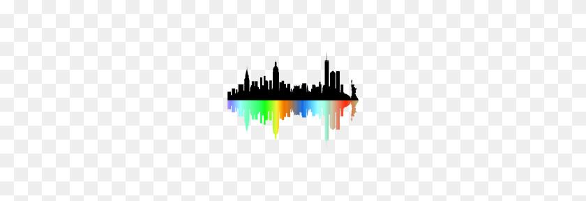 New York City Skyline Colorful Design - New York City Skyline PNG