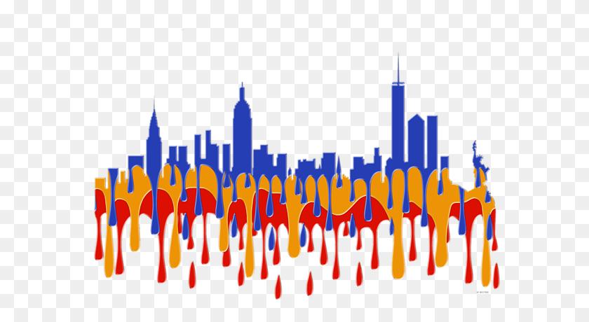 New York Ny Skyline T Shirt For Sale - New York City Skyline PNG