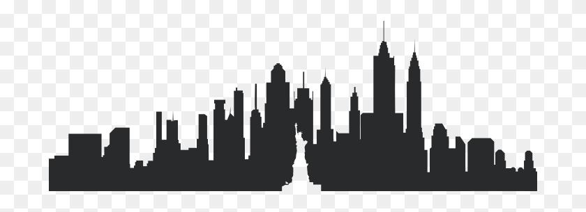New York Skyline Silhouette Png - New York Skyline Silhouette PNG