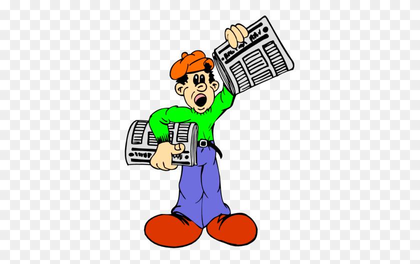 350x468 Newspaper Boy Clipart Free Clip Art Images - Newspaper Boy Clipart