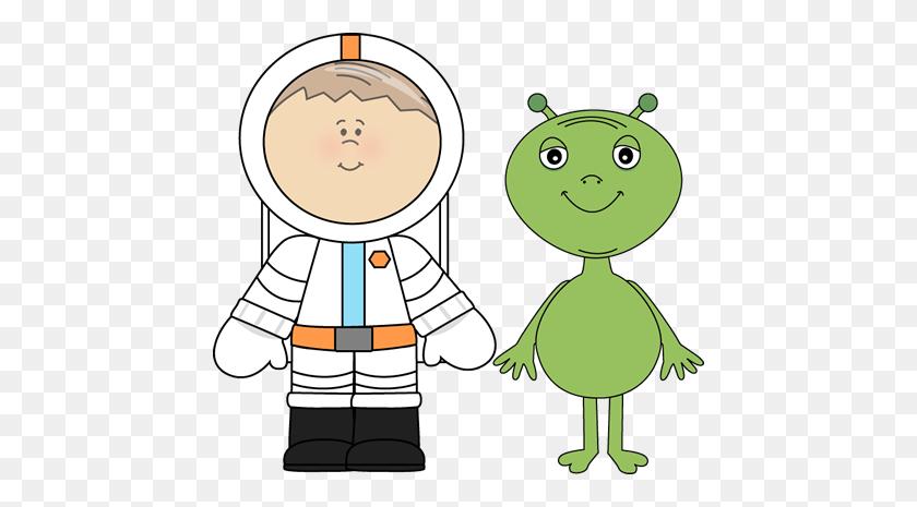 Nice Alien Clipart Alien And Astronaut Clip Art Alien And Astronaut - Astronaut Clipart