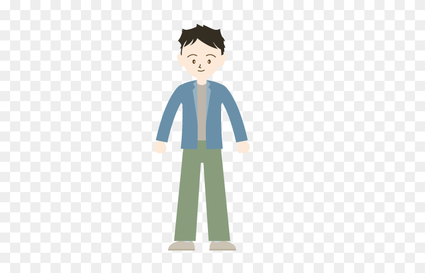 Nice Men Family Clip Art Free People Illustration Blog - Person Standing Clipart