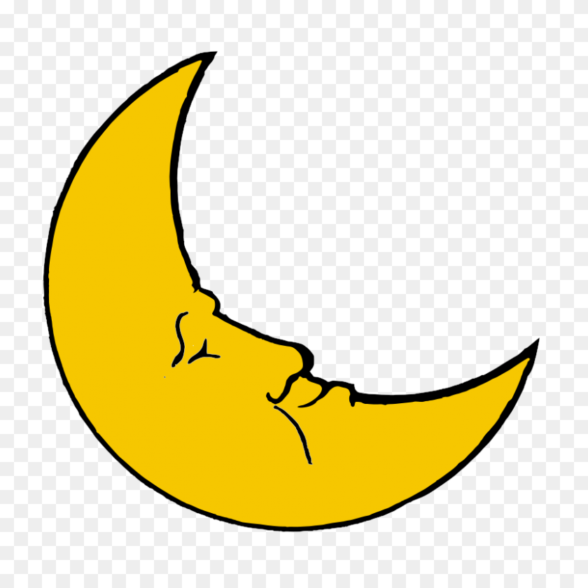 Night Clipart Quarter Moon - Quarter Clipart