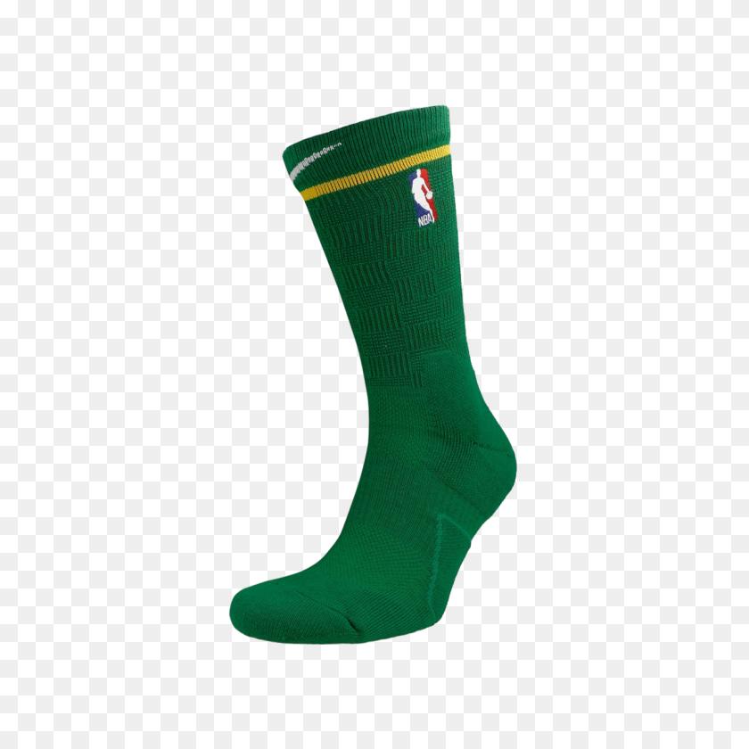 Nike Elite Nba Boston Celtics City Edition Crew Socks - Boston Celtics Logo PNG