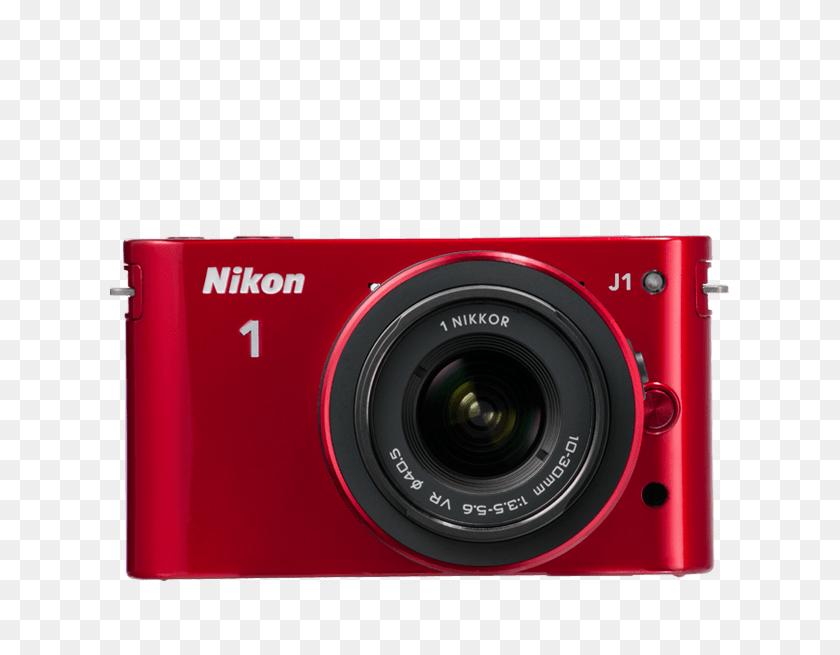 Nikon Camera Compact Camera System - Red Camera PNG