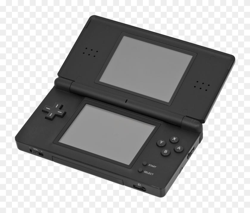 Nintendo Ds Lite Black Open - Nintendo Ds PNG