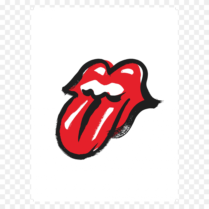 No Filter Tongue Lithograph The Rolling Stones - Rolling Stones Logo PNG