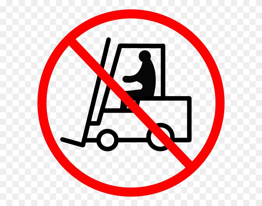 No Forklift Sign Clip Art - Forklift Clip Art
