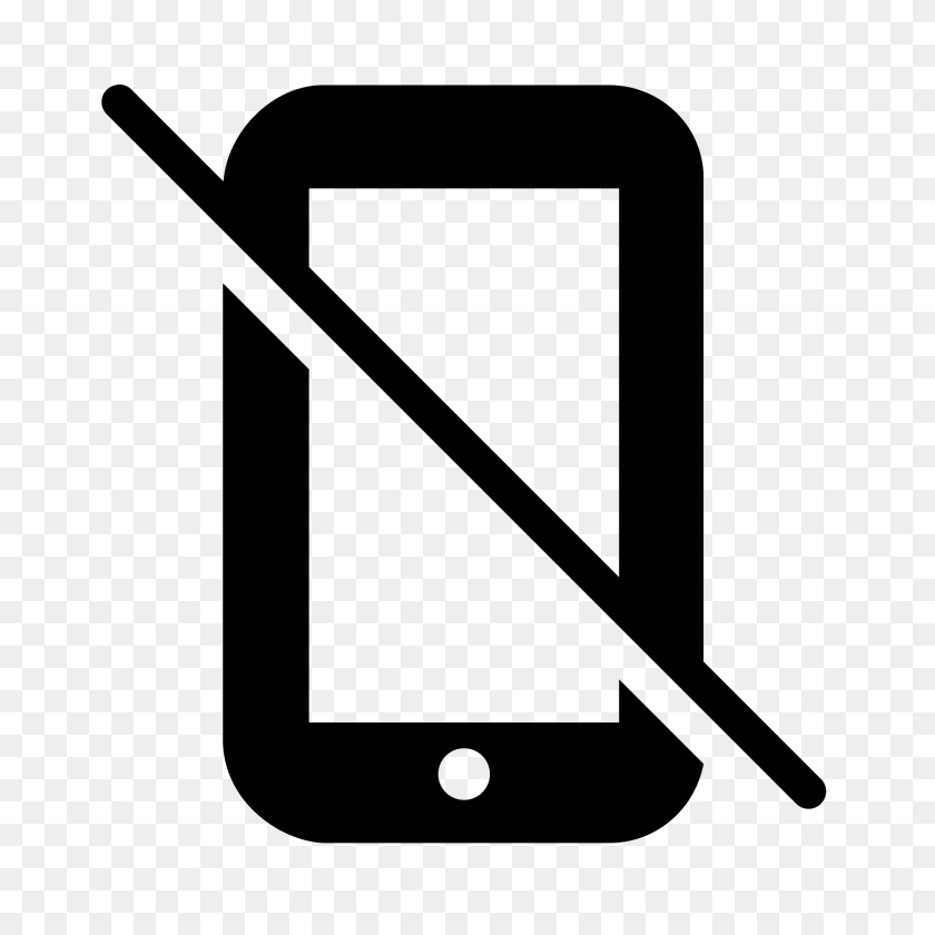 No Mobile Filled Icon - No Electronic Devices Clipart