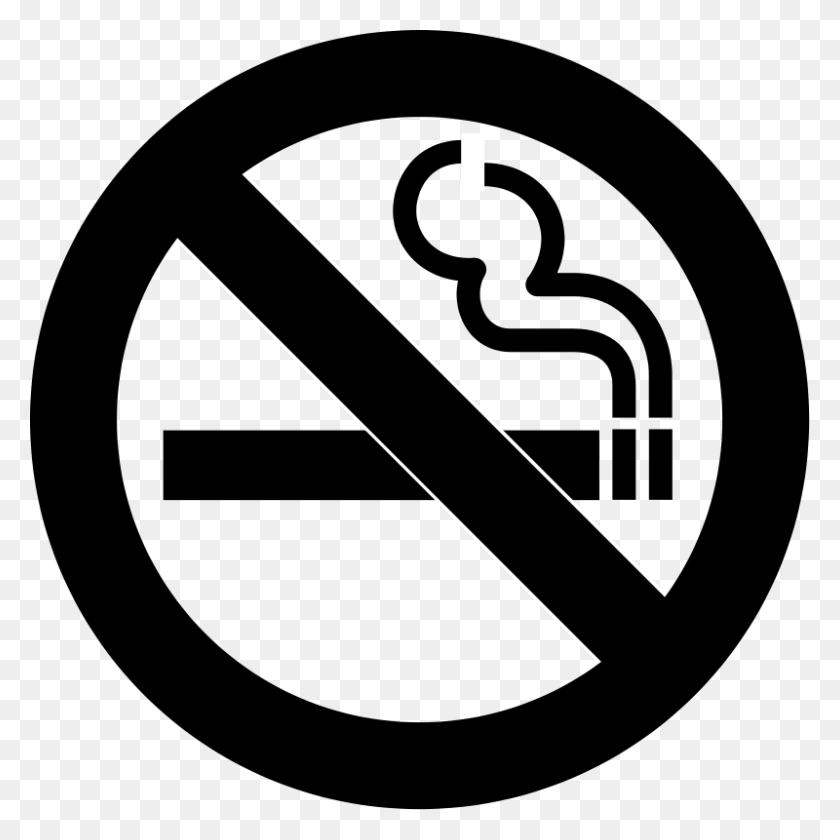 No Smoking Clip Art - Safety Clipart Black And White