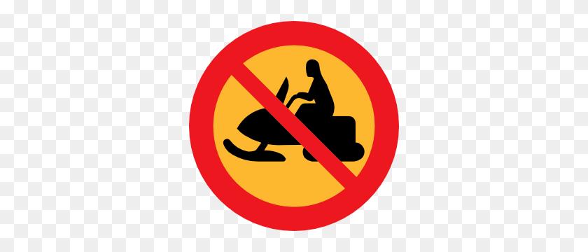 No Snowmobiles Sign Clip Art - Snowmobile Clipart