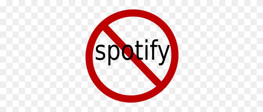 No To Spotify Clip Art - Spotify PNG