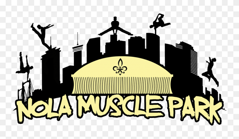 Nola Muscle Park Ninja Warrior Competition In Elmwood, La - New Orleans Skyline Clipart