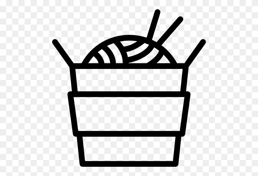 Noodles Icon - Noodles Clipart Black And White