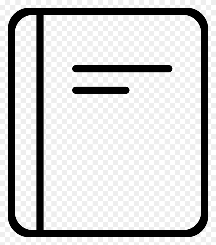 Notebook Or Book Cover Outline Png Icon Free Download - Book Cover PNG