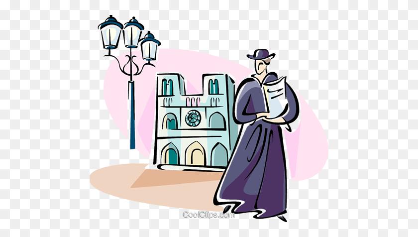 Notre Dame, Paris Royalty Free Vector Clip Art Illustration - Notre Dame Clipart