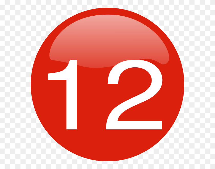 Number Button Clip Art - Number 12 Clipart