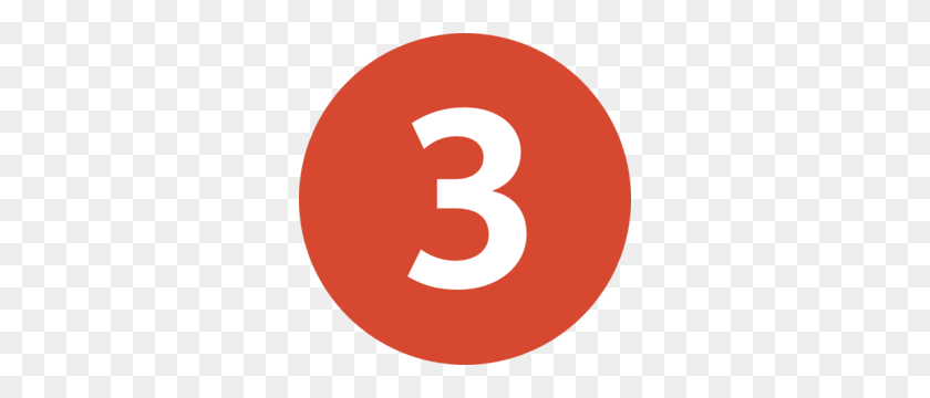 Number Clip Art - Number 3 Clipart