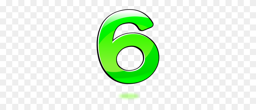 Number Clipart - Number 6 Clipart
