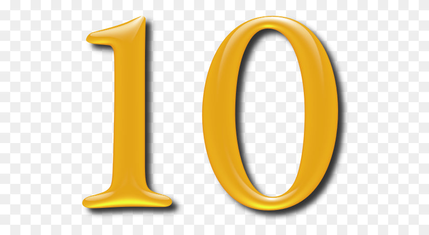 Numbers Icon Clipart - Number 10 Clipart