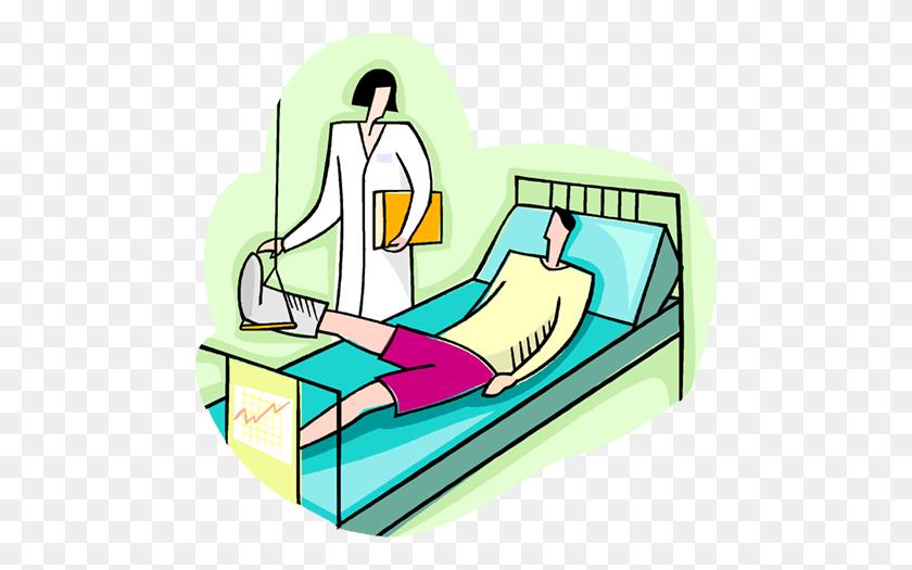 Nurse Checking Patient With Broken Leg Royalty Free Vector Clip - Nurse And Patient Clipart