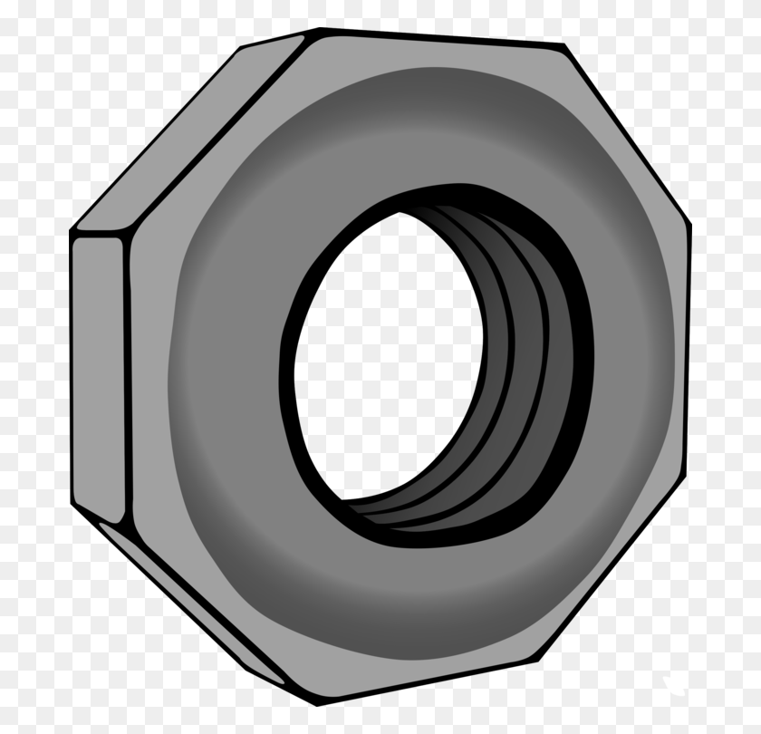 Nut Bolt Hexagon Screw Computer Icons - Screw Head Clipart