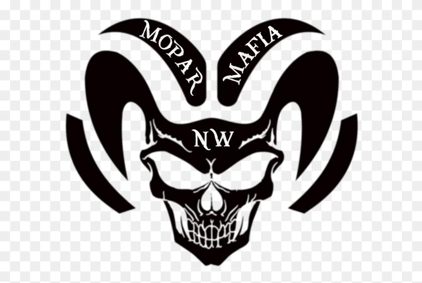 600x503 Nw Mopar Mafia Ram Head Decal Your Way Custom Decals And Tees - Mopar Clip Art
