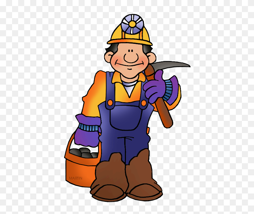 Occupations Clip Art - Coal Miner Clipart