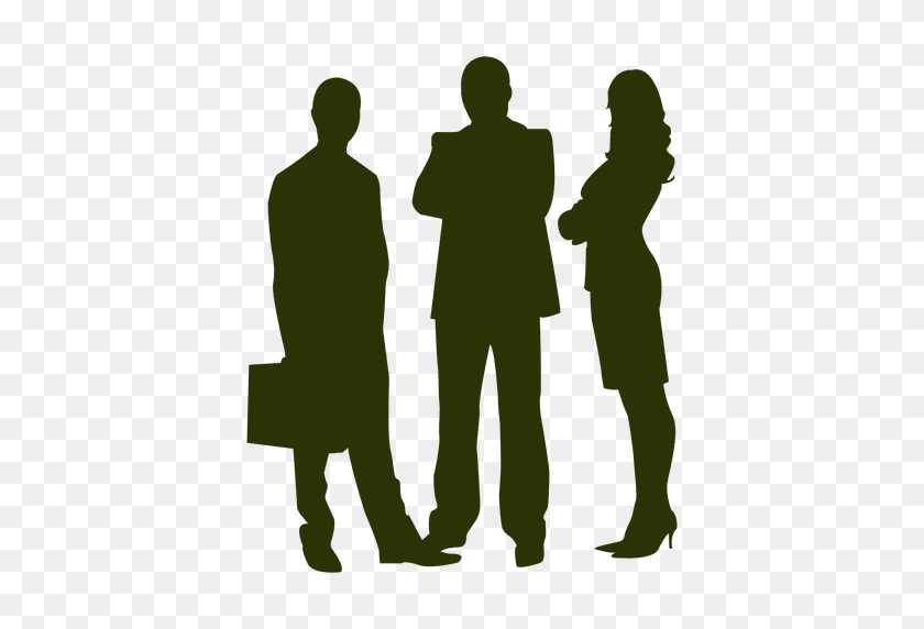 512x512 Office Collegues Meeting Silhouette - Meeting PNG
