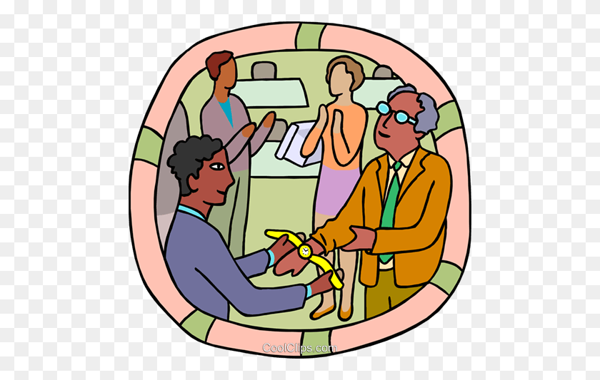 Office Retirement Party Gold Watch Royalty Free Vector Clip Art - Retirement Party Clip Art