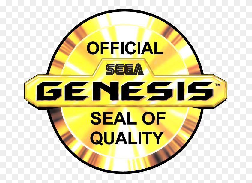 Official Sega Genesis Seal Of Quality My Favorite Logos - Sega Genesis Logo PNG