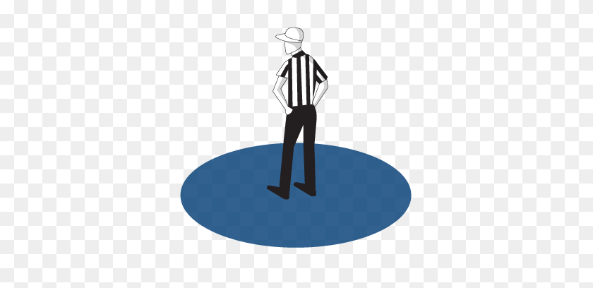 451x348 Officials' Responsibilities Positions Nfl Football Operations - Referee PNG